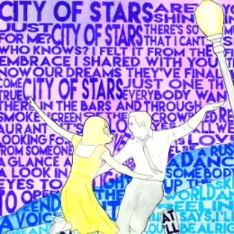 City of Stars Mixed Media