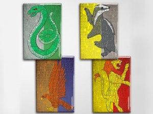 Harry Potter Houses of Hogwarts Art Magnet Set