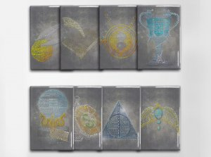 "Harry Potter ""All Eight"" Art Magnet Set"