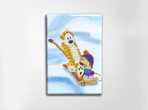 Calvin and Hobbes Art Magnet