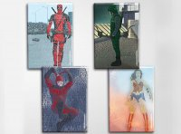 Superheroes Art Magnet Set