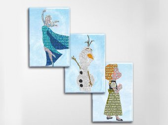 Frozen Art Magnet Set
